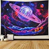Leofanger Galaxy Tapestry Trippy Planet Tapestry Psychedelic Mountain Wall Tapestry Space Tapestry Starry Sky Tapestry Forest