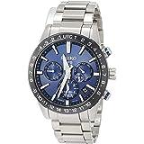 [セイコーウォッチ] 腕時計 アストロン 第3世代 GPSソーラー 青文字盤 ワールドタイム機能 サファイアガラス ダイヤシールド SBXC015 メンズ シルバー