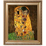DECORARTS The Kiss by Gustav Klimt. The World Classic Art Reproductions. Giclee Print with Matching Museum Frame. 20x24 Finis