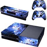 UUShop Starry Sky Skin Stickers for Microsoft Xbox One with Two Free Wireless Controller Decals