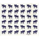 イーオクト e.スポンジワイプ 吸水 速乾 水切りマット ネイビー/ホワイト地 25.7x30.4cm ムース