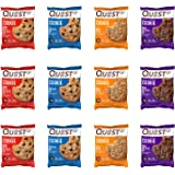 Quest Nutrition Protein Cookie Variety Pack (Choco Chip, Double Choco, Peanut Butter and Peanut Butter Choco Chip). 15 + Gram
