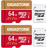 [5-Yrs Free Data Recovery] Gigastone 64GB 2-Pack Micro SD Card, 4K Camera Pro for GoPro, Security Camera, Wyze, DJI, Drone, N