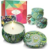 DIY OrganicZ Scented Candles Gift Set of 4|Perfect for Room Decor & Gifts for Women, Dewali |4 Pure Fragrances |4.4 Oz|100% N