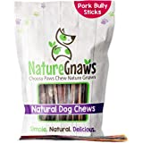 Nature Gnaws Extra Thin Pork Bully Sticks for Dogs - Premium Natural Bones - Long Lasting Dog Chew Treats for Small Dogs & Pu