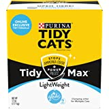 Purina Tidy Cats Clumping, Lightweight, Multi Cat Litter, Tidy Max Glade Clear Springs Formula - 17 lb. Box