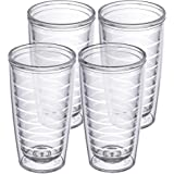 4-pack Insulated 16 Ounce Tumblers - BPA-Free - Made in USA - Clear