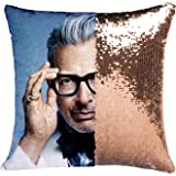 K T One Jeff Goldblum Reversible Mermaid Sequins Throw Pillow Covers Without Insert Decor Change Color Pillow Cushion Covers