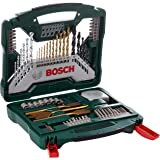 Bosch 70 Piece X-Line Drill and Screwdriver Bit Set (For Wood, Masonry, and Metal)
