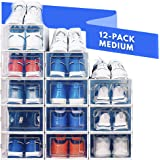 NEATLY Shoe Organizer for Closet - Stackable Shoe Storage, Shoe Rack for Entryway - Clear Plastic Shoe Boxes, Sneaker Shoe Co
