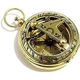 真鍮プッシュボタン方向日時計コンパス–ポケット日時計コンパス