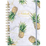 """Ruled Notebook/Journal - Lined Journal with Hardcover, 8.35"""" x 6.3"""", College Ruled Spiral Notebook/Journal, Back Pocket, Stro"""