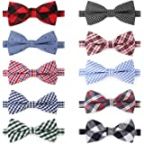 Segarty Dog Bow Tie, 10 PCS Bowties Dog Collar Bulk Holiday Cat Collar Grooming Bows for Pet Puppy Photography Festival Party