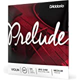 D'Addario Prelude Violin String Set, 3/4 Scale, Medium Tension