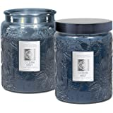 2 Aromatherapy Scented Candles - Serenity - Two 16 Ounce Glass Mason Jar Candles with a 100 Hour Burn Time - A Great Gift and