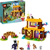 LEGO 43188 Disney Princess Aurora's Forest Cottage Sleeping Beauty Playset with Maleficent Minifigure and Animal Figures