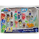 PJ Masks Deluxe Figure Set 17 Pieces with New Characters Included