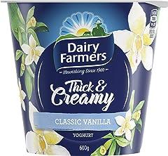 Dairy Farmers Yoghurt, Vanilla, 600g - Chilled