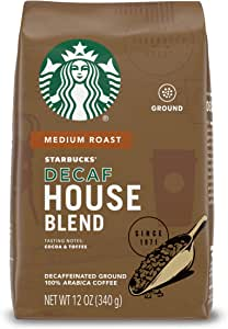 スターバックス Starbucks カフェインレス ハウスブレンドコーヒー グラウンドコーヒー 挽き豆 340グラム スタバ [並行輸入]