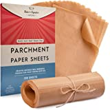 Parchment Paper Baking Sheets by Baker's Signature | Precut Silicone Coated & Unbleached – Will Not Curl or Burn – Non-Toxic