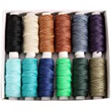 FANDOL Wax Coated Cords Polyester Leather Sewing Thread Wax-Coated Strings for Macrame, DIY Bracelets, Handcraft or Leather P
