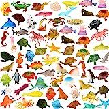 Ocean Sea Animals 78 Piece Mini Sea Life Creatures Toys Set ValeforToy Plastic Underwater Sea Animals Learning Toys For Boys