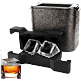 Large Clear Ice Cube Trays, Ticent Crystal Clear Ice Cube Maker - Square Ice Mold Jumbo Clear Ice Cube for Whiskey & Cocktail