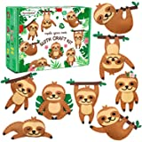 CiyvoLyeen Sloth Sewing Craft Kit Jungle Animal DIY Craft Sewing Kit for Girls and Boys Educational Sewing Kit for Kids Age 7