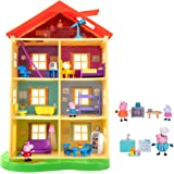 Peppa Pig Lights N' Sounds Family Home, with Two Bonus Little Rooms - Includes 5 Character Toy Figures Plus Toy Home Furnishi