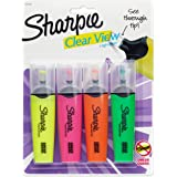 Sharpie Clear View Highlighters, Chisel Tip, Assorted Colours, 4 Count