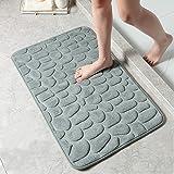 DECORUS Memory Foam Bath Mats, Non Slip Cobblestone Bath Rugs, Super Absorbent Bathroom Mats, Machine-Washable Cozy Bath Mats