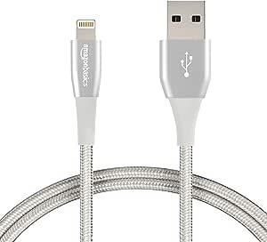Amazonベーシック ライトニングケーブル USB 【iPhone対応 / Apple MFi認証】 シルバー 0.9m 12本セット 二重高耐久ナイロン製 プレミアムコレクション