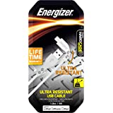 Energizer HIGHTECH USB to Lightning Cable, 1.2m in Length, White, (C41UBLIGWHTW)