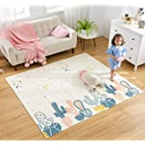 Infant Shining Baby Play Mat, Reversible Foldable Mat 2x1.8 M, Extra Large Waterproof and Antislip Rug (200 * 180 * 1cm, Cact