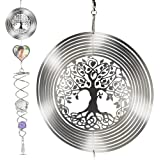 Saikirra Hanging Garden Decorations- Wind Spinner I Memorial Wind Chime Outdoor I Crystal 3D Wind Spinners I Memorial Outdoor