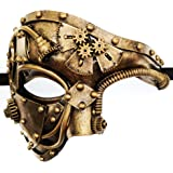 CCUFO Steam Punk Phantom of The Opera Vintage Mechanical Men Venetian Mask for Masquerade/Party/Ball Prom/Mardi Gras/Wedding/