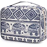 Hanging Travel Toiletry Bag Cosmetic Make up Organizer for Women and Girls Waterproof (Elephant)