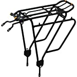Ibera PakRak Bicycle Touring Carrier Plus+ Carrier Rack IB-RA4 (for Non-Disc Brake Mounts) Frame-Mounted for Heavier Top & Si