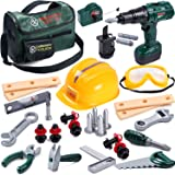 Toyssa Kids Tool Set 32 pcs Tools for Kids Construction Tools Set Kids Tool Kit for Toddlers Boys Age 3 4 5 6 7 Years Old wit