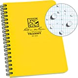 "Rite in the Rain All-Weather Side-Spiral Notebook, 4 5/8"" x 7"", Yellow Cover, Transit Pattern (No. 303)"