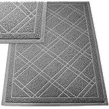 """SlipToGrip Jumbo Door Mat Indoor / Outdoor 42""""x35"""" Gray Duraloop"""