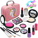 ROKKES Kids Washable Makeup Toy - Unicorn Real Cosmetic Kit for Little Girls , Play Makeup Set for Toddlers , Pretend Makeup