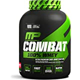 MusclePharm 100% Whey Protein, Muscle-Building Whey Protein Powder, Strawberry, 5 Pounds, 73 Servings