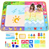 Apsung Large Aqua Doodle Mat,150 x 100 cm Extra Large Water Drawing Doodling Mat Coloring Mat Educational Toys Gifts for Kids