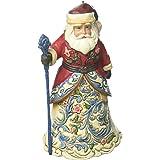 """Jim Shore Heartwood Creek Norwegian Santa Stone Resin Hanging Ornament, 4.6"""""""