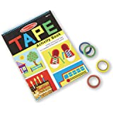 Melissa & Doug 3574 Tape Activity Book: 4 Rolls of Easy-Tear Tape and 20 Reusable Scenes