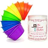 The Sweet Baker | Professional Jumbo Silicone Baking Cups | Premium 12 Piece Set | Reusable Cupcake Muffin Pans | BPA Free