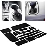 Custom Fit Cup Holder and Door Liner Accessories for 2018 2019 2020 Toyota Camry 16-pc Set (Solid Black)