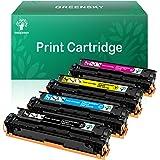 GREENSKY Compatible Toner Cartridge Replacement for HP 128A CE320A CE321A CE322A CE323A for HP Color Laserjet CP1525n CP1525n