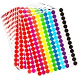 Boao Colored Round Dot Stickers Circle Dot Labels, Neon Colors Labels 2800 Pieces, 19 mm